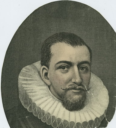 Portret Henry Hudson (Copyright New York Public Library Print Collection)
