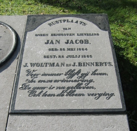 Grafmonument voor Jan Jacob
