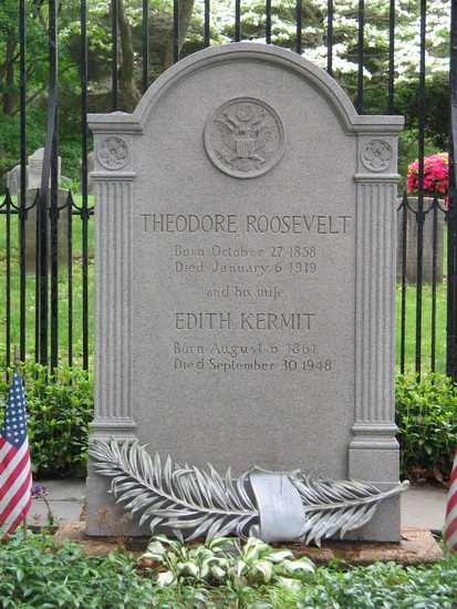 Grafmonument voor Theodore Roosevelt (foto Wikimedia)