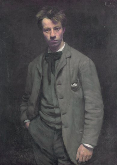 Portret Albert Verwey door Jan Veth (1885)